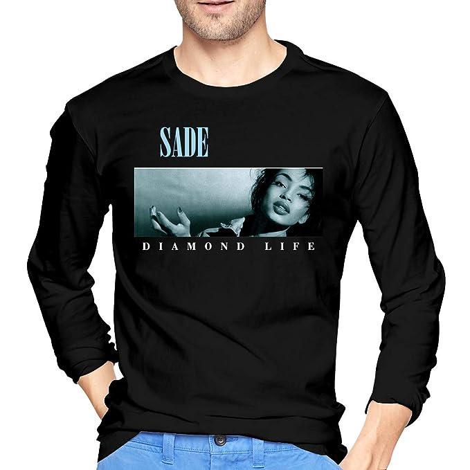 f0d7a137 AlbertJ Mens Sade Diamond Life Long Sleeve T Shirt Black | Amazon.com