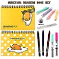 Sanrio Gudetama Lazy Egg Drawing Book with Sketch Pencil & Eraser Set