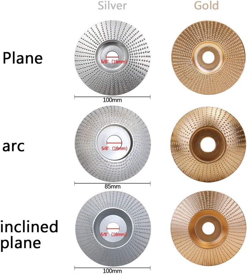 NO.45 Disco de abrasivo para lijadora angular de madera de acero Disco abrasivo para amoladora angular con di/ámetro interior de 16 mm