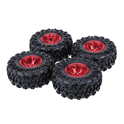 GoolRC 4Pcs/Set 1/10 Monster Truck Tire Tyres for Traxxas HSP Tamiya HPI Kyosho RC Model Car: Toys & Games