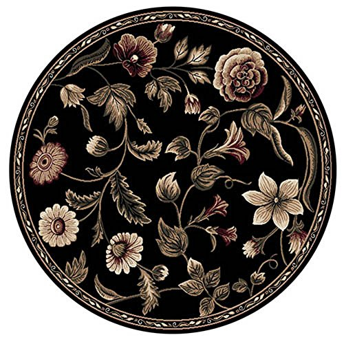 - Transitional Oriental Area Rug 8x8 Floral Persian Round Actual - 7' 10