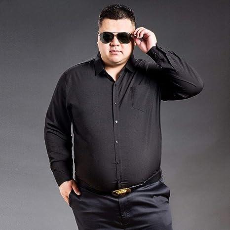 WYTX Camisas Camisa De Manga Larga para Hombre De Color Sólido De Talla Grande Más Camisa De Camisa De Cuello Cuadrado Suelta XL Gruesa Negra: Amazon.es: Deportes y aire libre