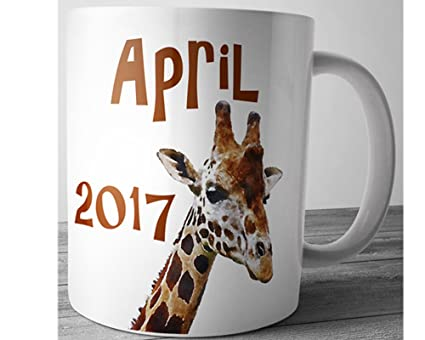 Amazon.com: Giraffe Mug April the Giraffe Gift for Women Baby Shower ...