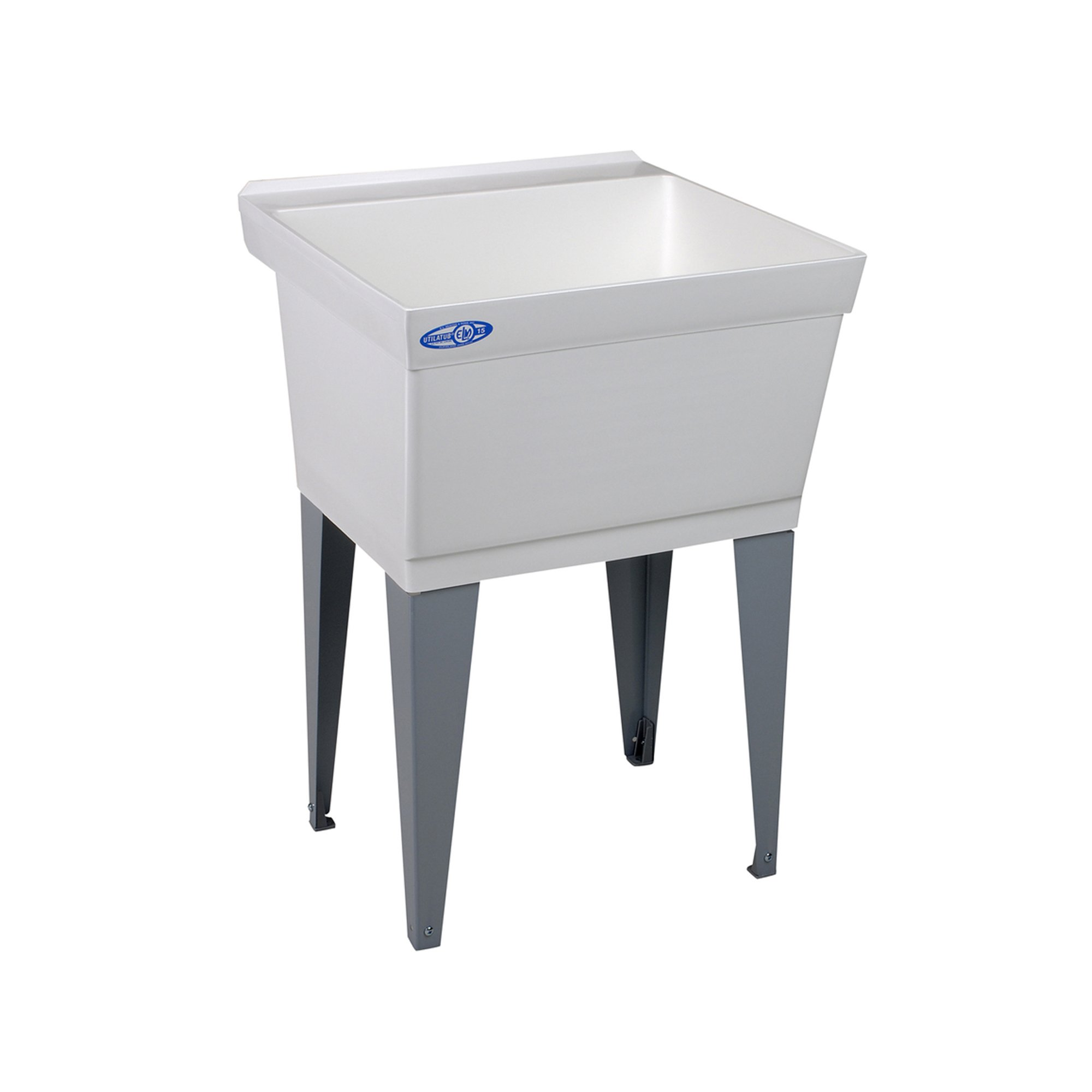 Mustee 15F Utilatub Laundry Tub Floor Mount, 23.5-Inch x 23-Inch, White by Mustee