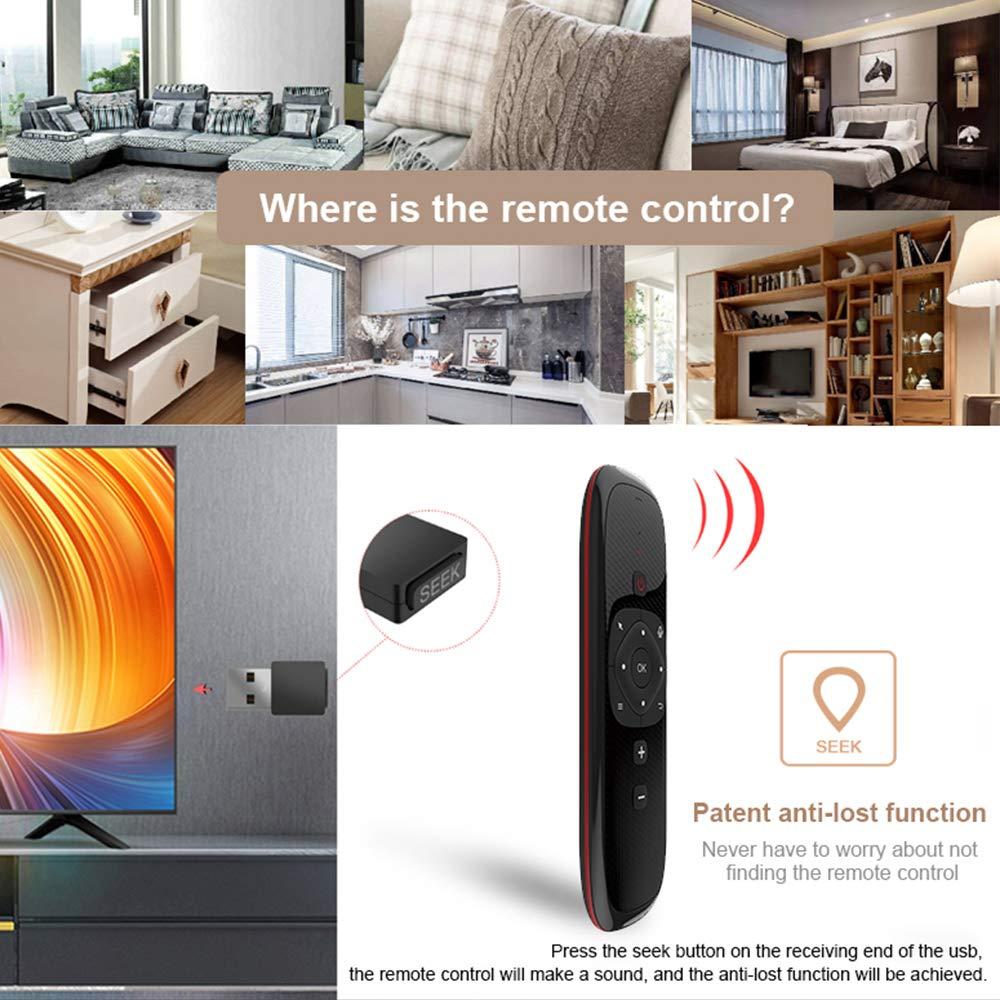 Docooler Wechip W2 2.4G Clavier sans Fil avec Touchpad Mouse T/él/écommande Infrarouge pour Android TV Box Projecteur PC