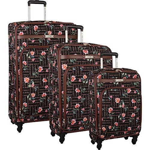 Nine West 3 Piece Lightweight Spinner Luggage Suitcase Set, Brushstroke Bloom (West Set Luggage Nine)