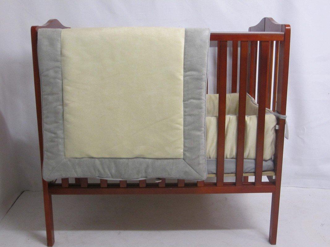 Baby Doll Bedding ZumaMini Crib/ Port-A-Crib Bedding Set, Grey/Beige by BabyDoll Bedding   B009S51ST0