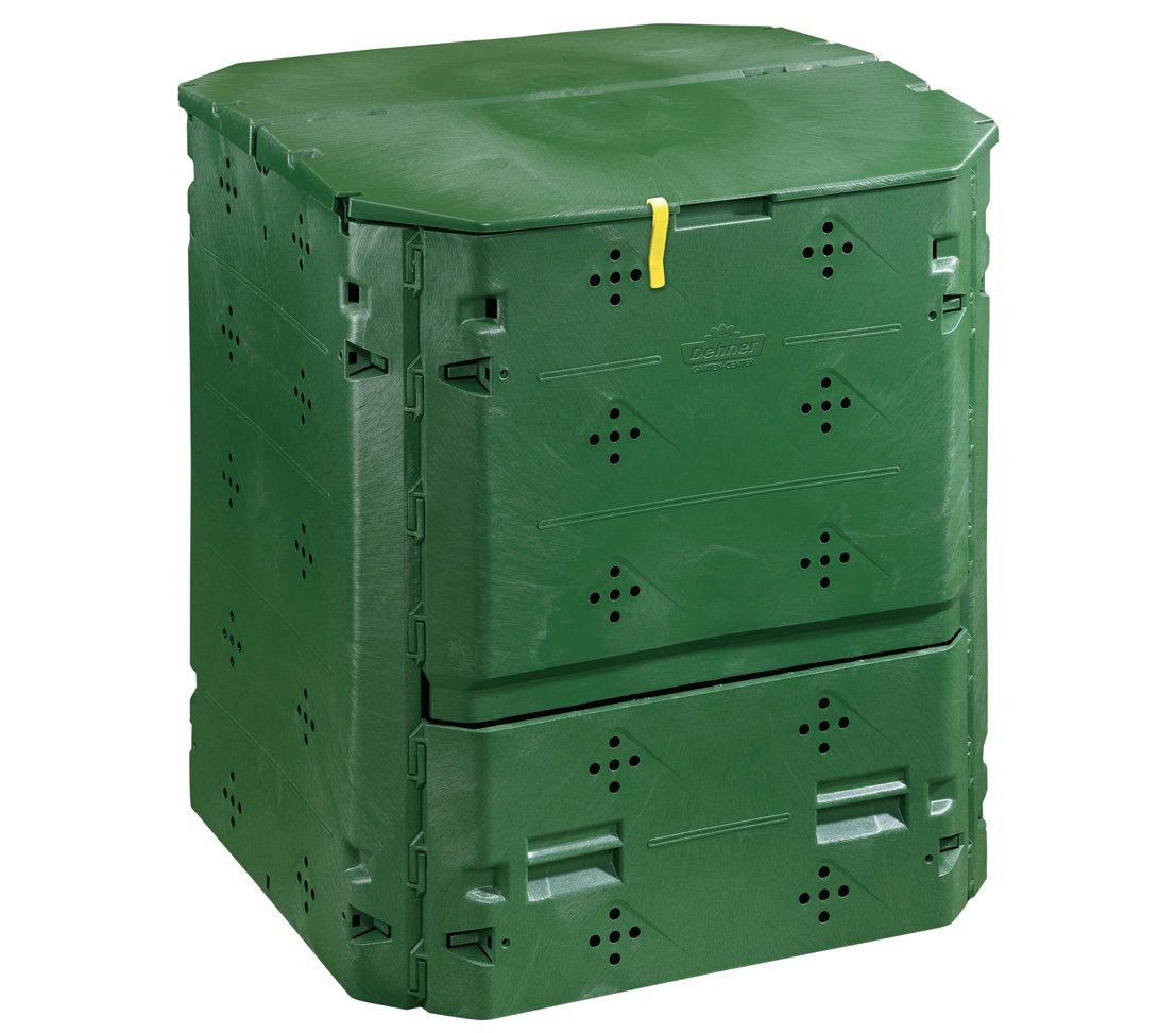 Dehner - Compostador térmico, 420 L, Aprox. 84 x 74 x 74 cm, plástico, Color Verde: Amazon.es: Jardín