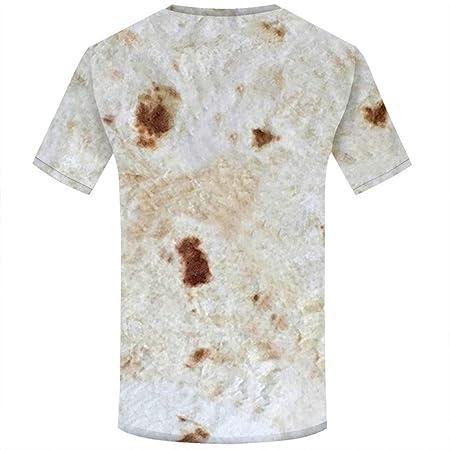 NIUQY - Camisa de Manga Corta con Estampado de Galletas ...