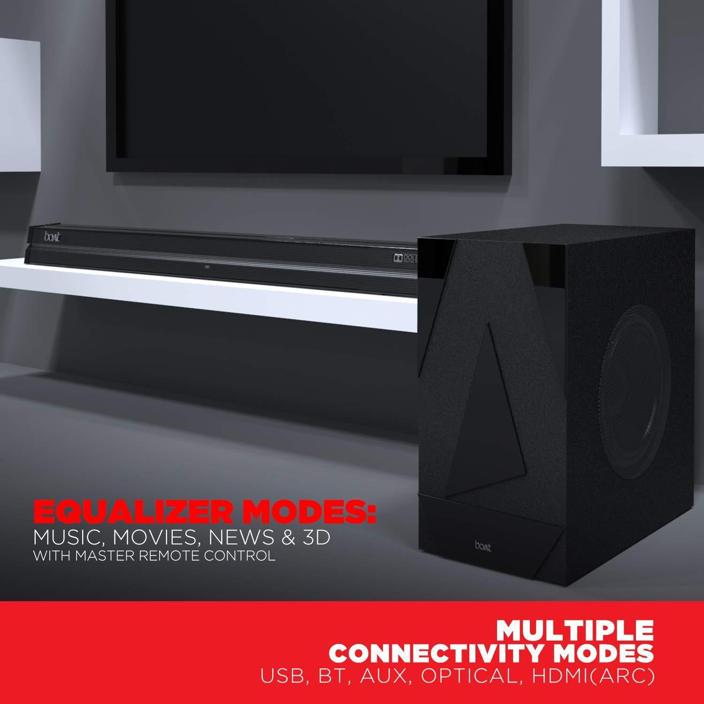 boAt AAVANTE Bar 1700D 120W 2.1 Channel Bluetooth Soundbar with Dolby Digital/Digital Plus, Wired Subwoofer