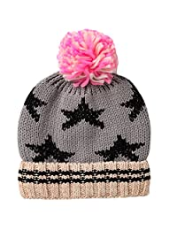 E.mirreh Girl Toddler Baby Kid's Winter Warm Knitted Beanie Star Hat Top Pom