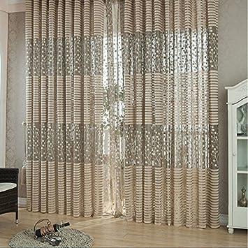 Amazingdeal365 idyllische Voile Gardinen Schal 2 m *1m Set ...