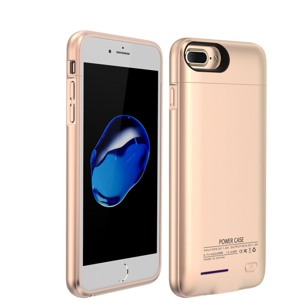 iPhone 8/7/6s/6 Battery Charging Case, Innovative Wireless 3000Mah Portable Cover Charger Power Bank Battery Case For Iphone Accessories With Quick Charge Magnetic Stand Design