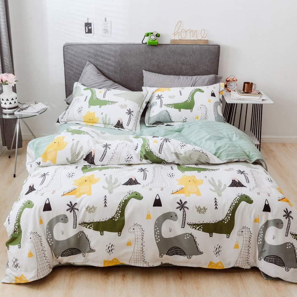 CSYP 綿4ピースのシンプルな春新しい綿の小さな新鮮な寝具シーツキルトカバーキット (Color : Brown) B07Q7GFDP7
