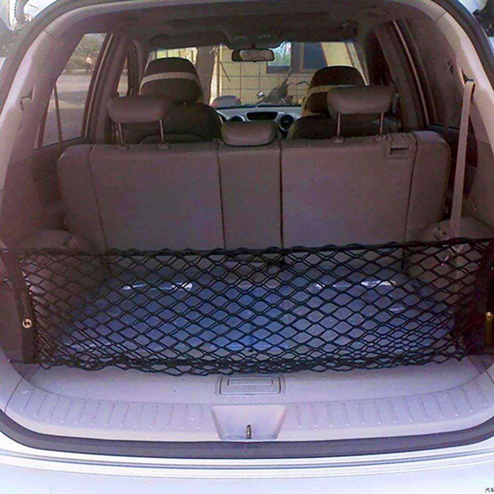 Bungee Car Elastic Netting Carrier Trunk Storage Organizer Net for SUV Jeep Truck ideapro Rear Cargo Net 35x12 Inch