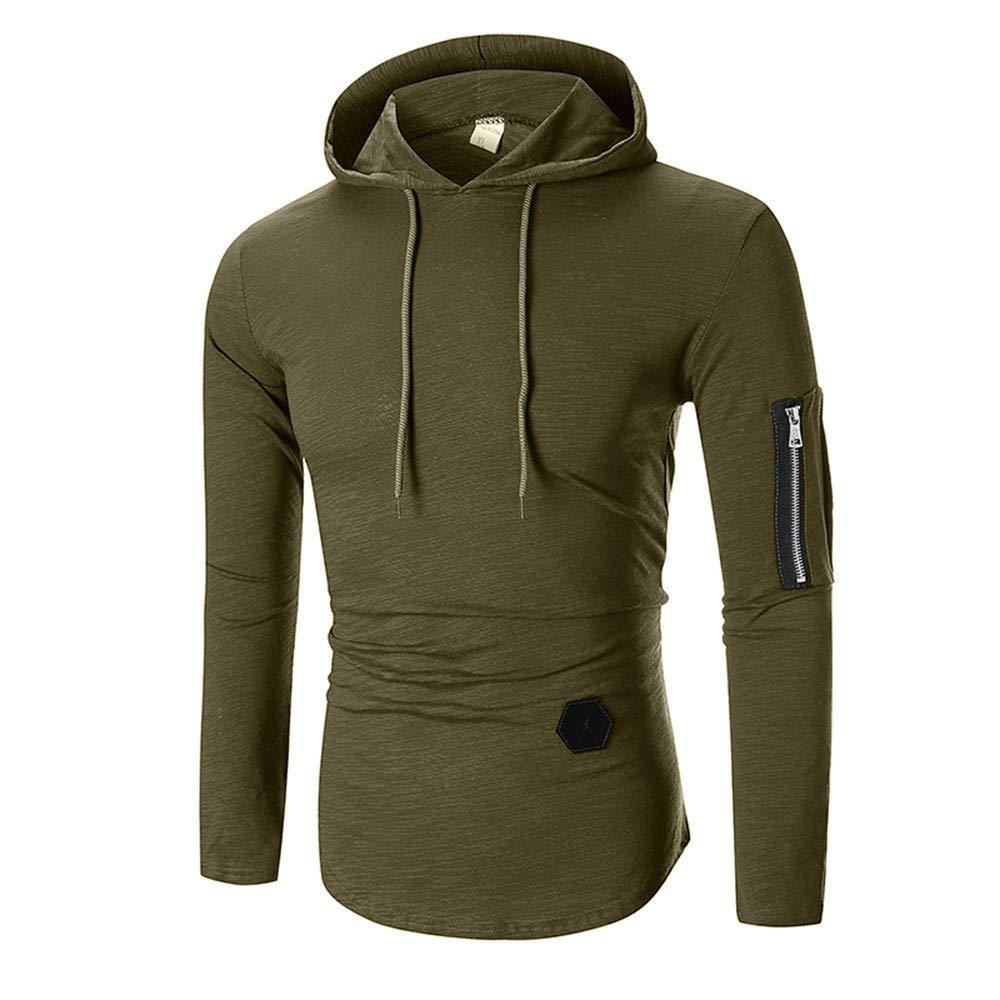 DIKEWANG Men\'s Autumn Mens Hoodies Brand Men Zipper Solid Colour Hooded Sling Sweatshirt Mens Hoodie Hip Hop Hoodie Sweatshirt Outwear Tops Tracksuits