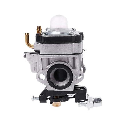 Manyo - Carburador cortacésped, dos tiempos, carburador para motores de 2 tiempos de 40 cc a 49 cc, recambio de cortacésped y desbrozadora Abordable, ...