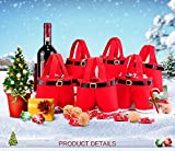 Haperlare 6pcs Creative Santa Pants Shape Candy Bag Portable Red Christmas Gift Bags Party Favor Boxes for Home Wedding Baby Shower Christmas Party Decorations
