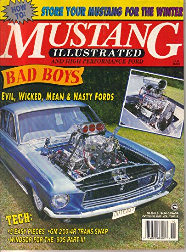 Mustang Illustrated and High Performance Ford Magazine, October 1992 (Vol. 7, No. - Magazine Mustang Performance