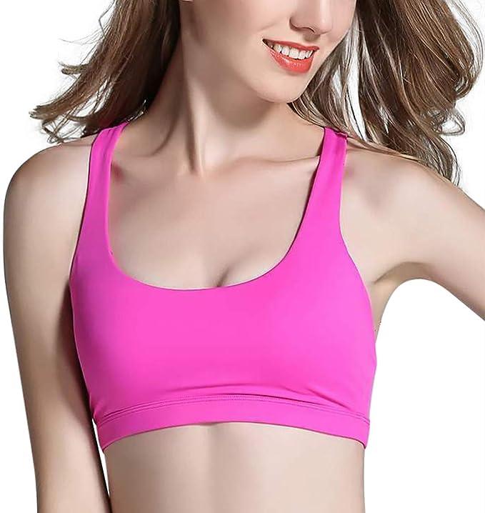 Ladies Women Padded Sports Bra Crop Top Vest Stretch Bras Shaper Padded Lin