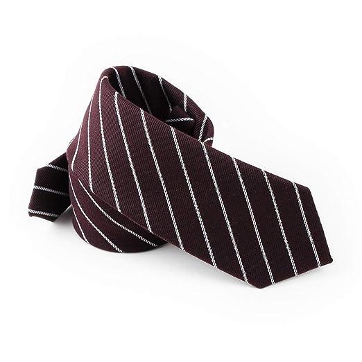 QX-DIMDIM Corbata de Rayas de los Hombres Moda Algodón Informal ...