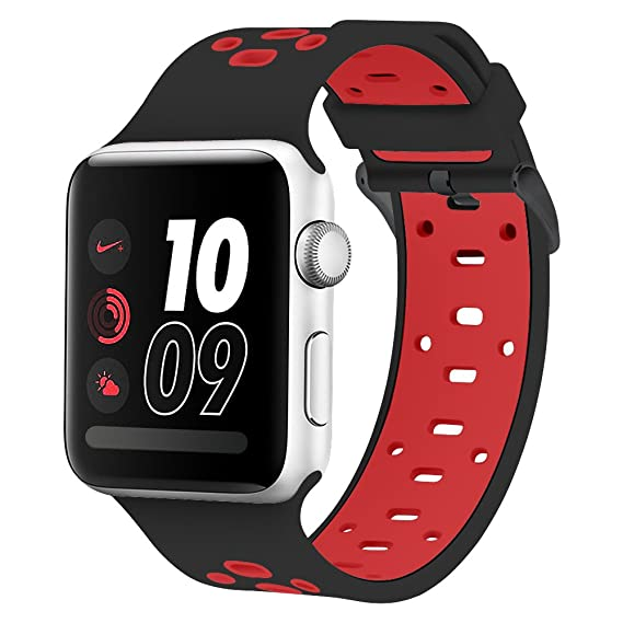 wholesale dealer 8706a 99998 Image Unavailable. Image not available for. Color Compatible Apple Watch  Band 42mm  44mm, Alritz Silicone Sport Strap ...