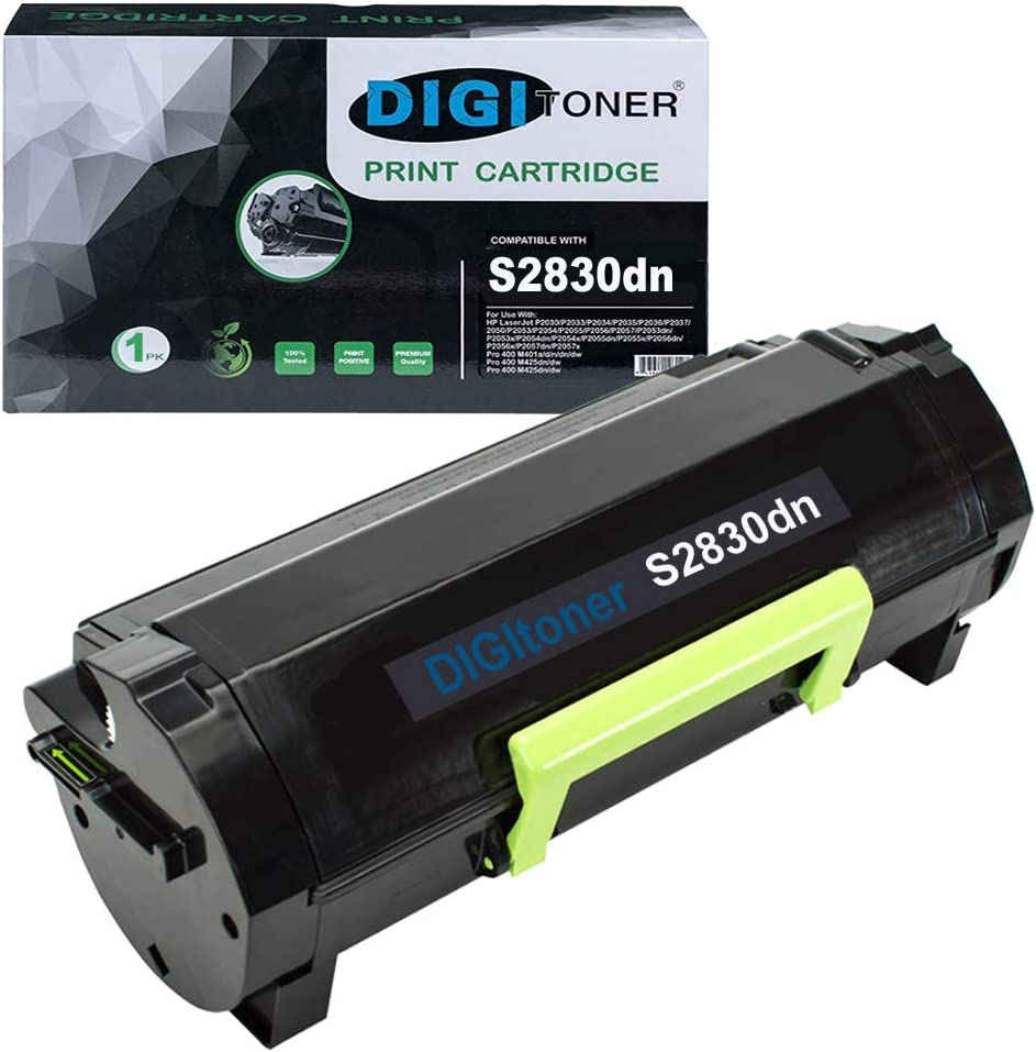 DIGITONER Compatible S2830dn Toner Cartridge Replacement for Dell S2830 S2830dn 2830dn 2830 dn Laser Series FR3HY CH00D 593-BBYP GGCTW 3RDYK TC2RH 593-BBYO Ink High Yield - 8,500 Pages [1Pack,Black]