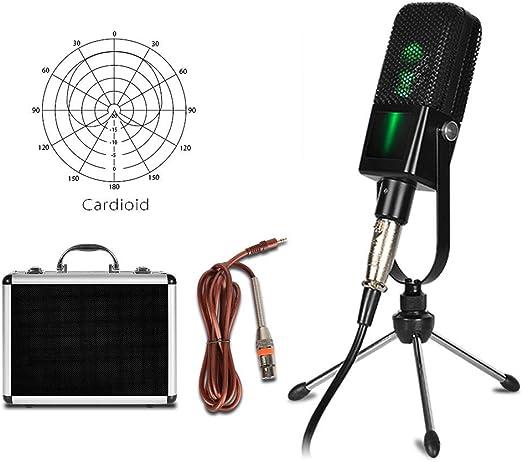 GJY Mini Grabación Condensador Micrófono Jack de 3,5 mm para Canto ...