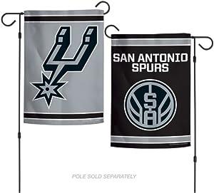 "WinCraft NBA San Antonio Spurs 12.5"" x 18"" Inch 2-Sided Garden Flag Logo"
