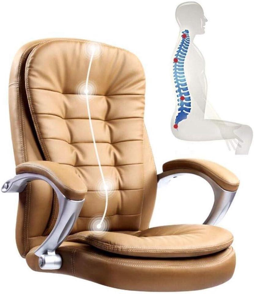 Sedia da ufficio Sedia da ufficio direzionale girevole ergonomica a 360 gradi regolabile in altezza 44-52 cm Meccanismo di inclinazione; (Colore : Brown) Brown