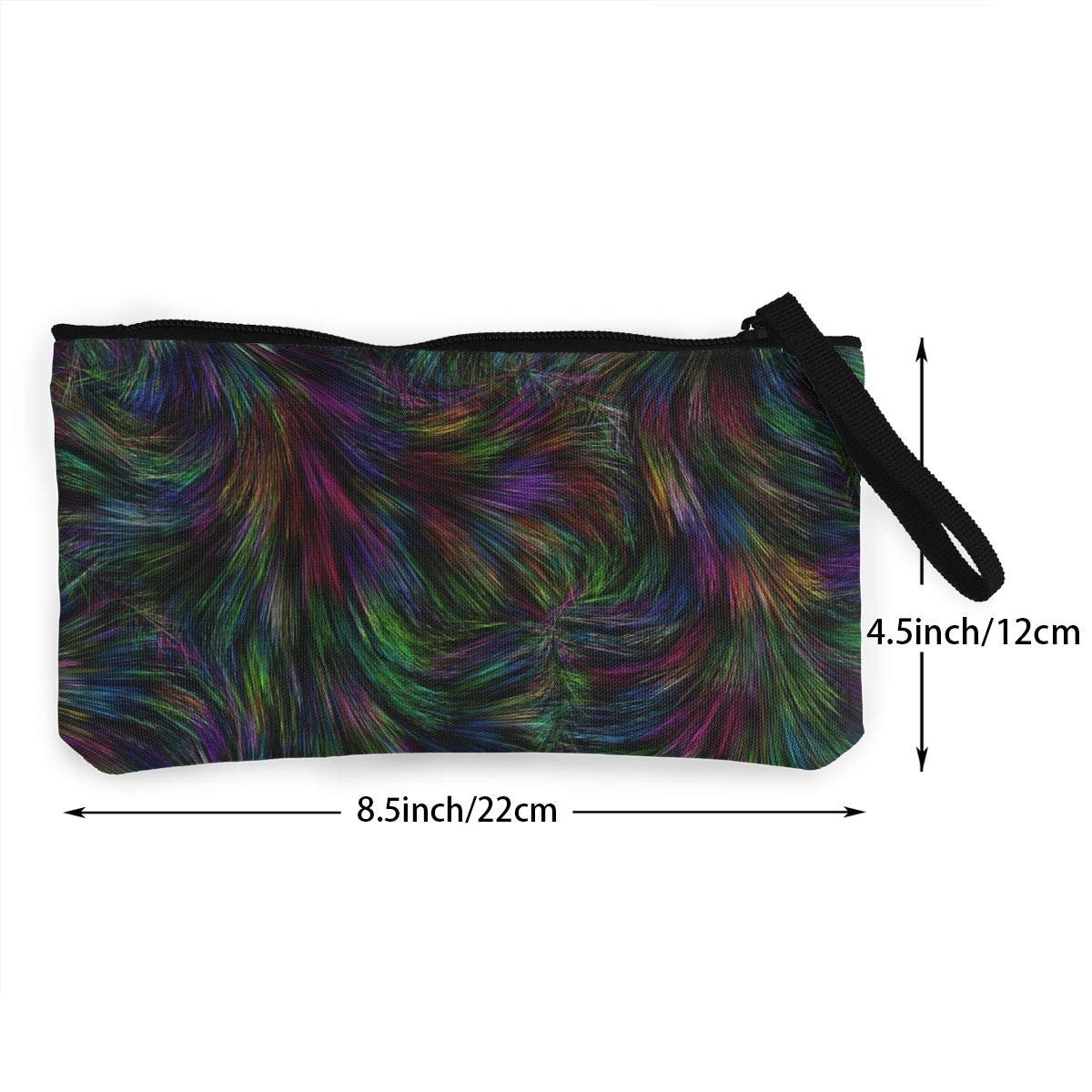 Make Up Bag,Cellphone Bag With Handle Background Texture Colors Zipper Canvas Coin Purse Wallet