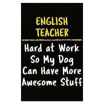 Amazon com: Sierra Goods English Teacher Hard at Work Dog