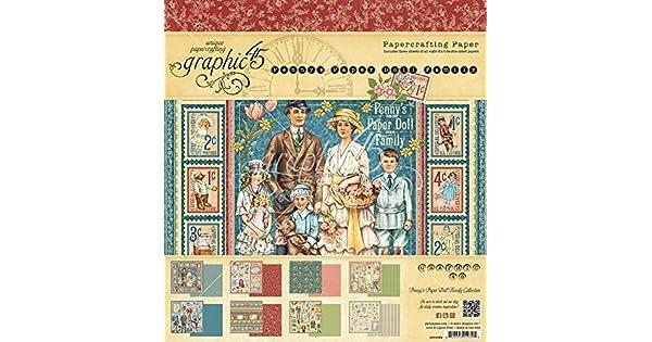 Gráfico 45 centavo de familia de muñecas de papel Papel Pad 8x8 Nuevo