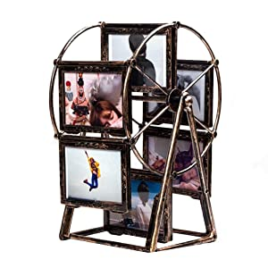 Vosarea 5inch Rotating Ferris Wheel Photo Frame Windmill Table Desk Decoration Gift