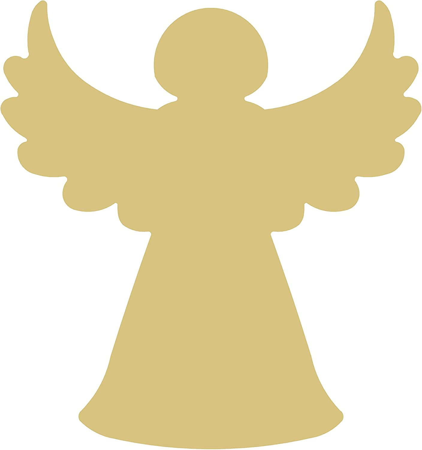 Angel Cutout Unfinished Wood Christmas Door Hanger Winter Decor MDF Shape Canvas Style 4