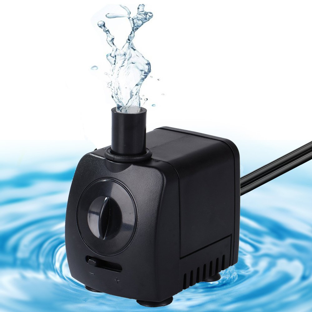 Maxesla Submersible Pump 145GPH (550L/H) Fountain Water Pump For Pond/Aquarium/Fish Tank/Statuary/Hydroponics with 5.9ft (1.8M) Power Cord by Maxesla