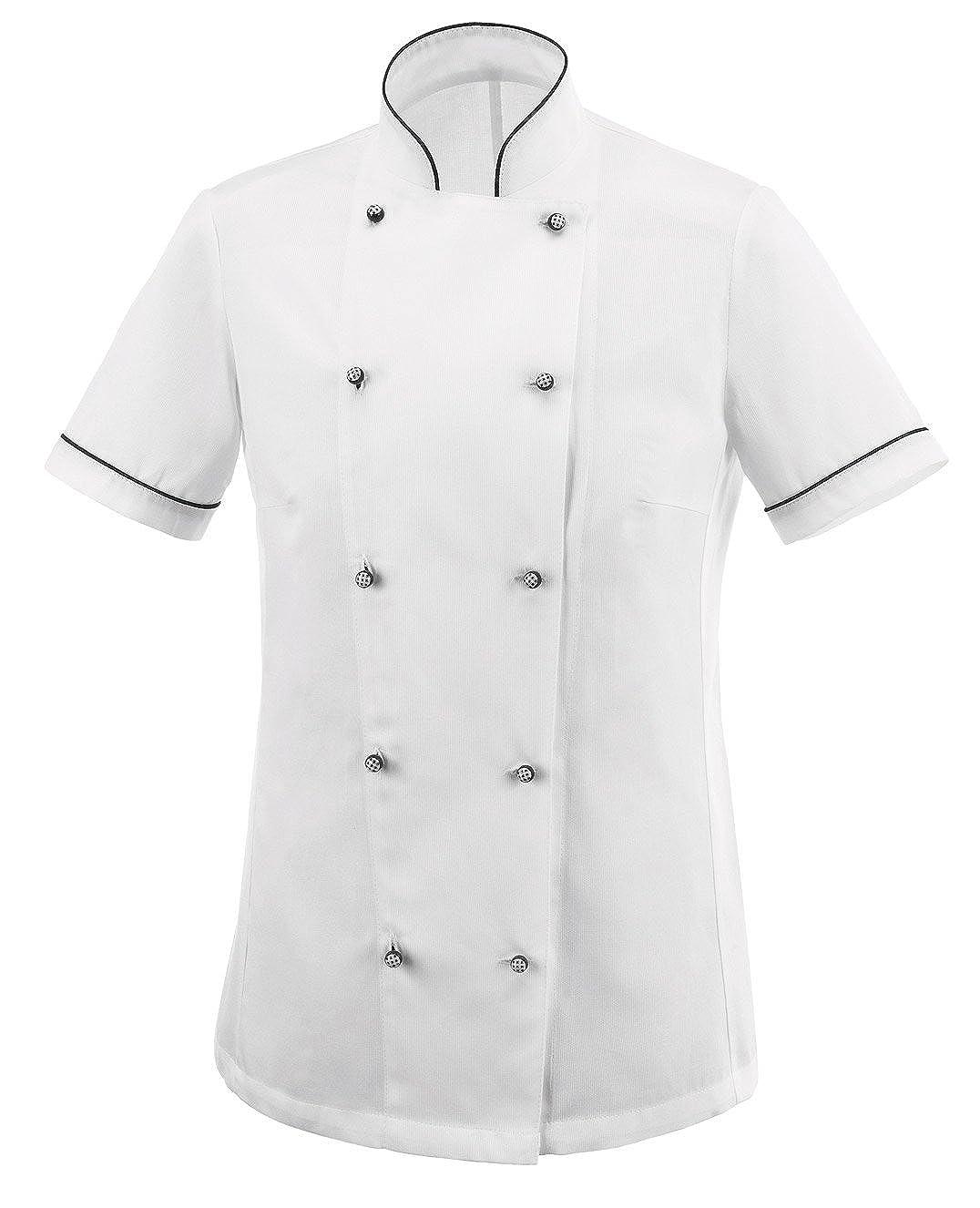 tessile astorino giacca cuoco basic, modello donna, manica corta, Made in Italy