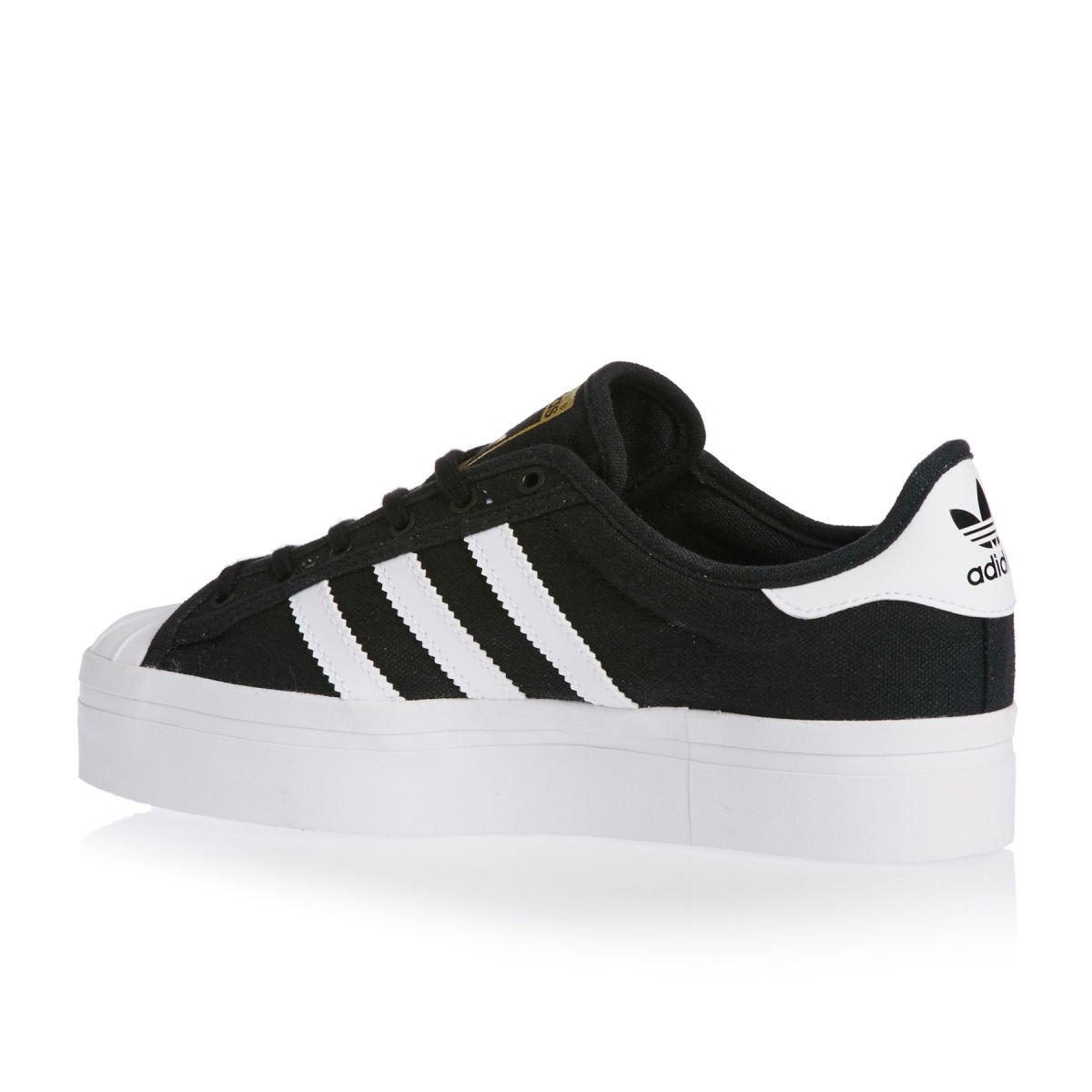 Adidas Superstar Rize , core black ftwr white gold metal