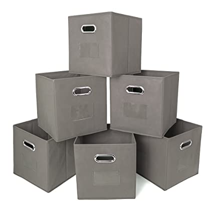 Ace Teah Storage Bins Cubes, Foldable Storage, Collapsible Fabric Cloth  Storage Bins Baskets,