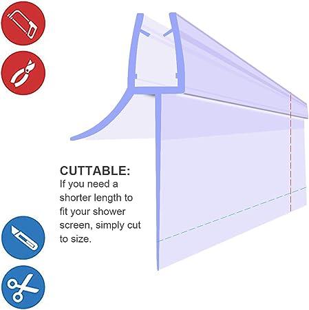 Queenbox Shower Door Waterproof Strip Sweep Bottom Seal Wipe Drip Rail Windproof 25MM Extended Water Retaining Edge