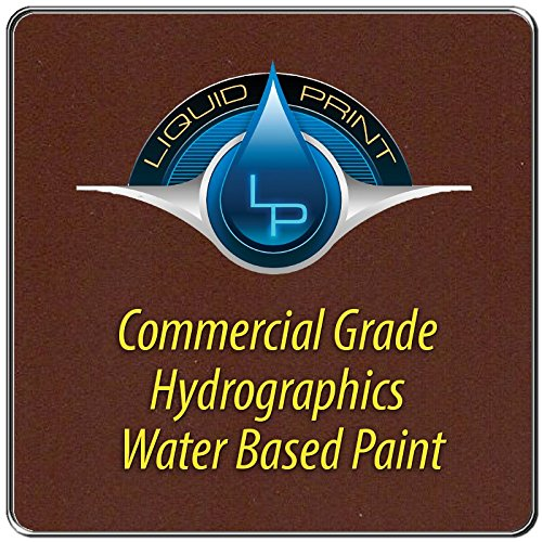 Dark Brown Hydrographics Paint - 1 Quart - Water Based - Liquid Print Hydrographics Paint Supplies by Liquid Print