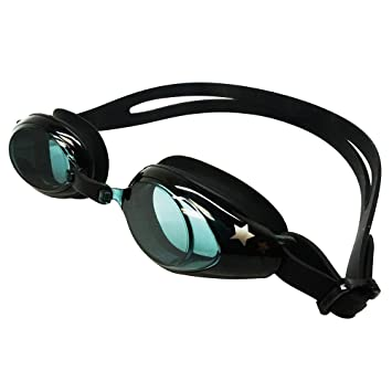 54a3157928 Palantic Black UV Nearsighted Prescription Corrective Youth Swim Goggles