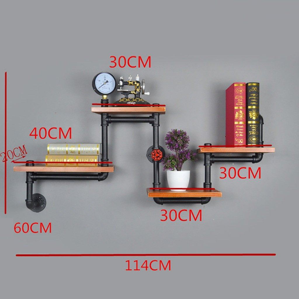 Estantes Para Bano De Hierro.60cm Decora Estantes De Pared Industrial Style 4 Tier