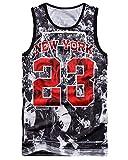 Chiclook Cool Hipster Harajuku Men New York 23 Tank Top Basketball 3D Vest Jersey Sleeveless Shirt