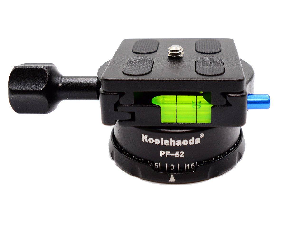 Koolehaoda New Design Panoramic Head Professional Camera Tripod Panoramic Head Holder Universal Quick Release Plate(PF-52)