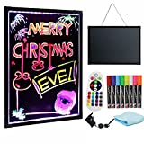 #5: Sensory LED Message Board Illuminated Erasable Neon Writing Board Toy for Special Need, Autism, ADHD with 8 Highlighter, Remote Controlled