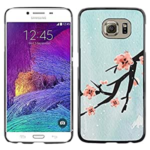 Design for Girls Plastic Cover Case FOR Samsung Galaxy S6 Design Cherry Blossom OBBA