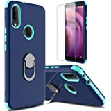 lovpec Alcatel 3V 2019 Case with Soft TPU Screen Protector, Ring Magnetic Holder Kickstand Shockproof Protective Phone Cover