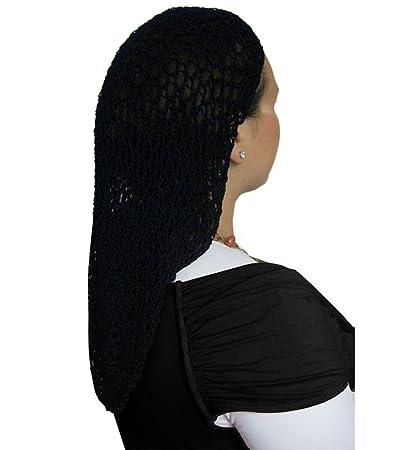 Amazon Black Extra Long Hair Net Snood Large Crochet Hair Net