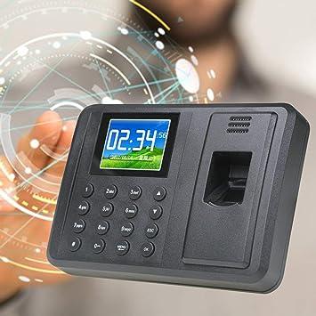 JohnJohnsen Universal 2.8 Pulgadas TFT Pantalla Sreen Huella Digital Reloj de Asistencia Reloj Registrador Digital Electronic Machine (Negro): Amazon.es: ...
